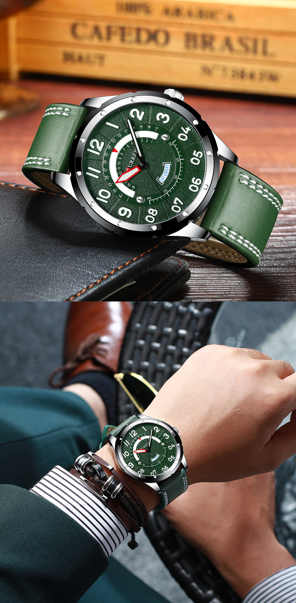 HTB1S08taAH0gK0jSZPiq6yvapXaW CURREN Date Mens Watches Luxury Sport Watch