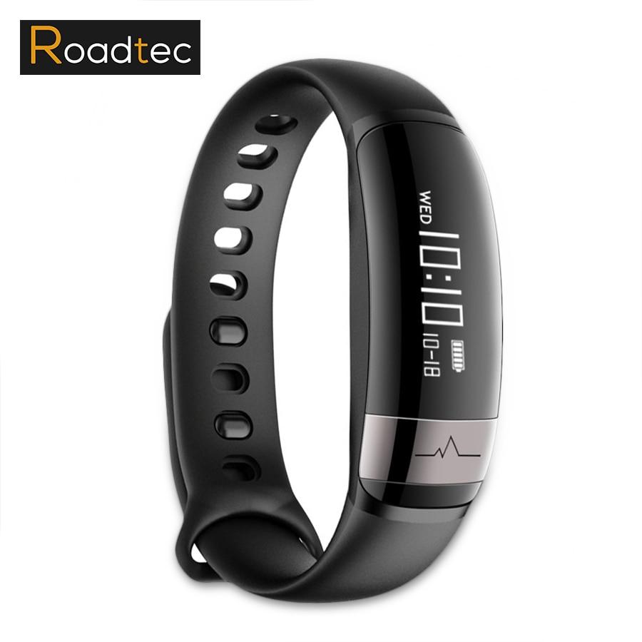 ROADTEC Intelligent bracelet de remise en forme/Activité/sport/podomètre pression moniteur de fréquence cardiaque smart bracelet IP67 poignet bande à puce