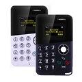 Nueva llegada mini teléfono aiek tarjeta/aeku m8 color tarjeta de la pantalla del teléfono quad band kids pocket teléfono móvil de baja radiación pk aiek m5 E1