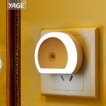 YAGE LED Night Light with Dual USB Port 5V 1A Light Energy Saving Aperture Light Home Lighting Plug-in Wall Lamp Socket Lamp