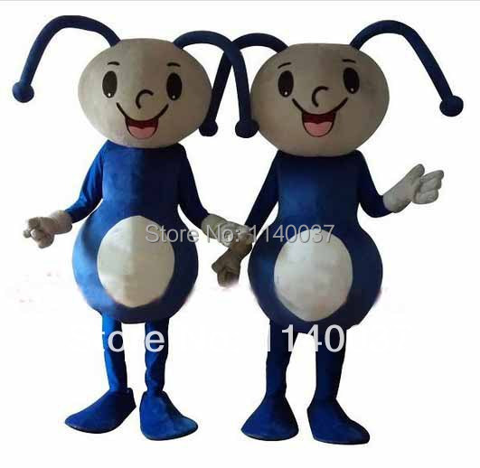NO.1 MASCOT Kid Size Little Blue Ant Mascot Costume Cartoon Character Ant Party Carnival Costumes Fancy Dress for Children