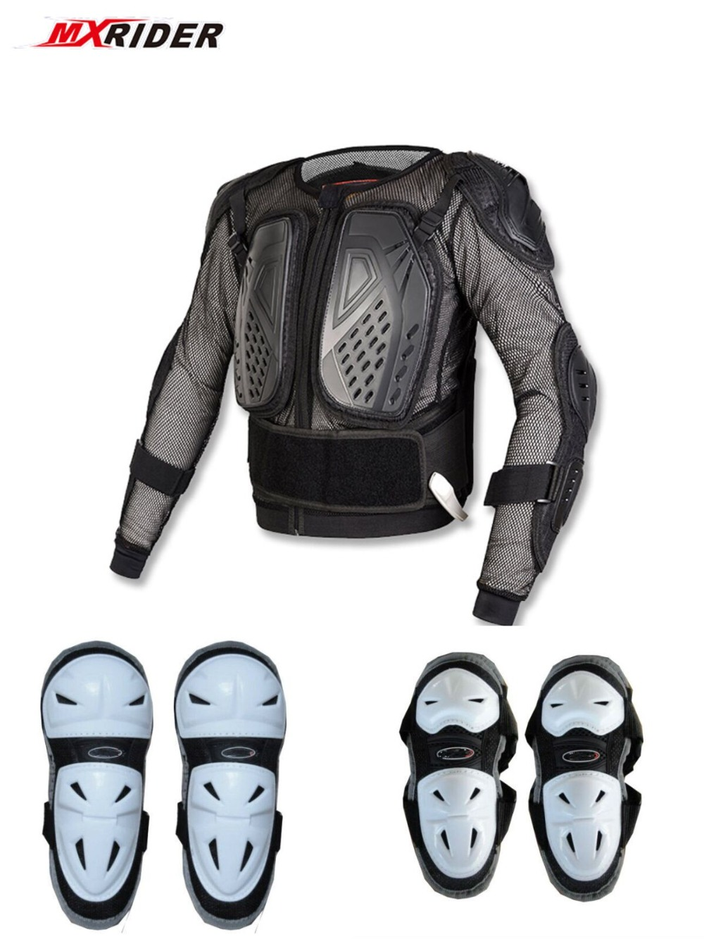 Motorcycle jacket Protective Armor Jackets Protection Motocross Clothing Protector Back Protector Racing Full body Jacket riding tribe men s motorcycle bikes slimming protective armor jackets motocross breathable cycling suits clothes with 6 pads