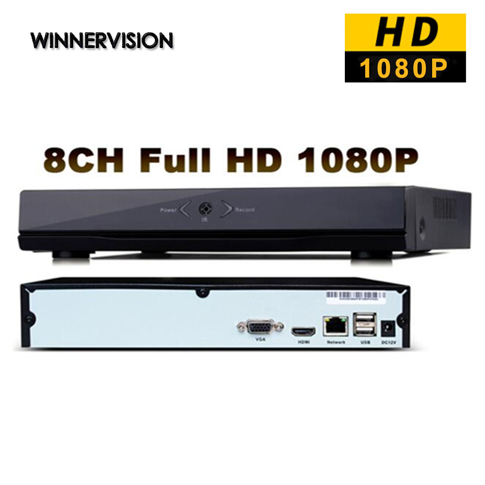 Full HD 8 Channels Network HD Video Recorder HDMI Video Output 1920*1080 CCTV DVR ONVIF 1080P 8CH NVR Recorder Free Shipping 80 channels hdmi to dvb t modulator hdmi extender over coaxial