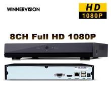 Full HD 8 Channels Network HD Video Recorder HDMI Video Output 1920*1080 CCTV DVR ONVIF 1080P 8CH NVR Recorder Free Shipping