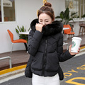 Uwback 2016 New Winter Jacket Women Faux Fur Hooded Long Sleeve Parkas Coat Woman Pink Warm Winter Down Coat Woman TB1144