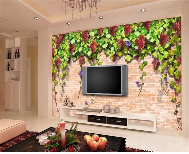 3d Wallpaper/benutzerdefinierten Nichtgewebter Wandbilder/fototapete/braun  Trauben Stein Malerei KTV Hintergrund Wand/sofa/Schlafzimmer/bar/Hotel In  3d ...