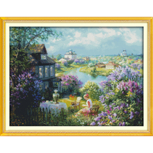 Everlasting Love Christmas Town Of Autumn Ecological Cotton Cross Stitch 11CT And 14CT  Printed New Store Sales