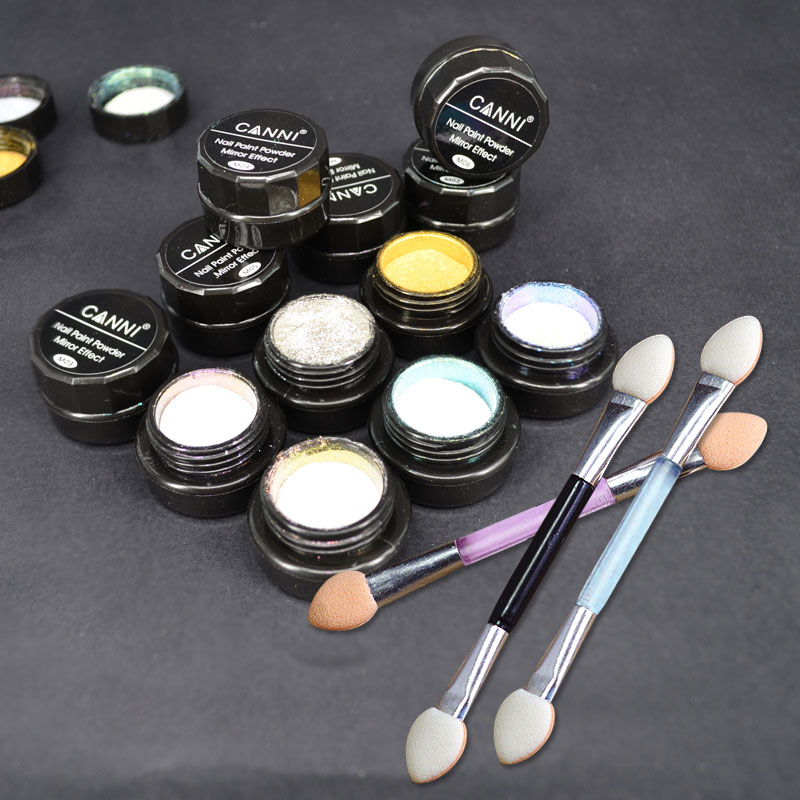 Chrome Nail Powder Gel: CANNI Mirror Powder Effect Nail Glitter Powder Chrome