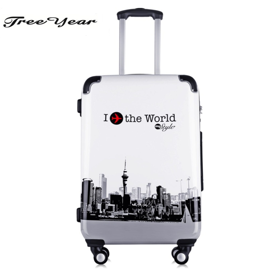 High Quality 20''Women luggage travel case trolley Girls Rolling Luggage ABS Trolley Travel case Boarding case Luggage case