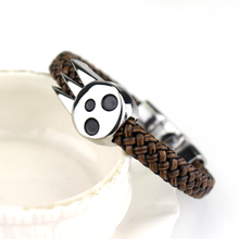 One Piece Naruto AOT Charm Leather Bracelet