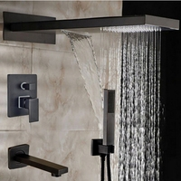 US Free Shipping Rainfall Shower Head Oil Rubbed Bronze Shower Faucet Mixer Tap