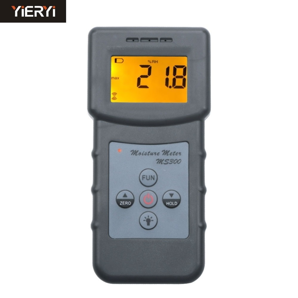 Yieryi MS300 Digital moisture meter concrete wall Handheld moisture analyzer ground moisture meter floor moisture detector mc 7806 digital moisture analyzer price pin type moisture meter for tobacco cotton paper building soil
