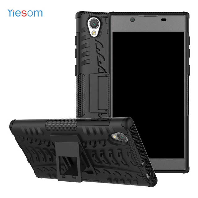 outlet store dff62 9fbe7 US $2.93 40% OFF|YIESOM Case For Sony Xperia L1 G3312 Capa Funda Kickstand  Armor Hard Phone Back Cover Phone Case for Sony Xperia L1 5.5'' Coque -in  ...