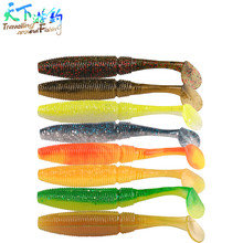 10Pcs T Tail Fishing Lure 7cm 3g Fishing Worm Swimbait Silicone Soft Bait Isca Artificial Leurre Souple Vers Worm Carp Soft Lure 50pcs trolling swim soft worm soft bait 2 4cm 0 5g artificial soft silica gel astringency wobbler fishing lure soft bait isca