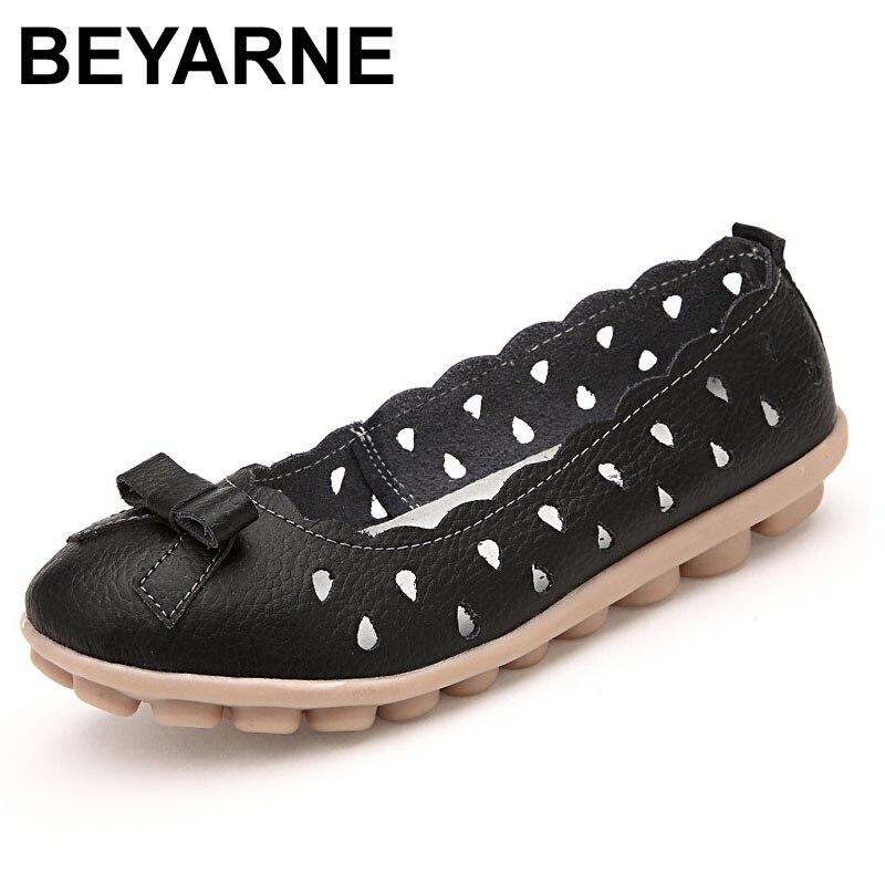 Beyarne verano respirable ahueca hacia fuera los zapatos de mujer zapatos de oci