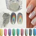 Nuevo 1 g/caja Brillo Espejo Del Polvo de Uñas de Gel Polish Glitter Silver Chrome Pigmento Polvo de Acrílico Del Polvo de Uñas de Arte Manicura DIY