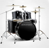 Child/Adult Professional Music Jazz Drum Set Kit 5 Drums 4/2 Cymbals Double Oil Skin Drum Alloy Musical Instruments Q900 4 Color