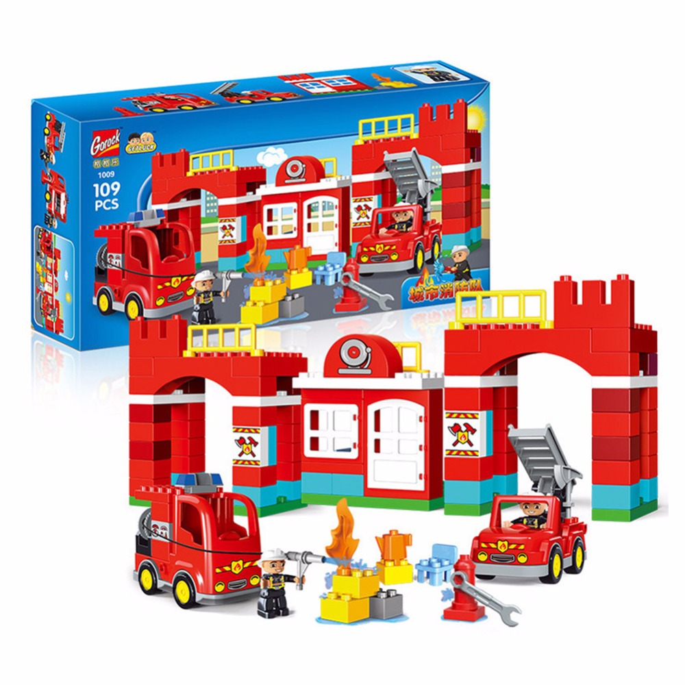 109PCS Diy city Building Blocks City Fire Station figure Truck Bricks Playmobil Toys for Children Compatible Legoingly Duplos 45109PCS Diy city Building Blocks City Fire Station figure Truck Bricks Playmobil Toys for Children Compatible Legoingly Duplos 45
