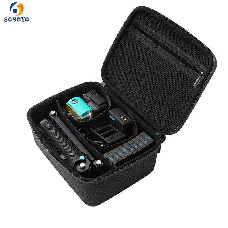 Pour Gopro Accessoires Cas sac Trépied Manfrotto Auto-bâton Action Sport Caméra sac pour Gopro Hero 6/5/4/3 SJCAM SJ4000 Xiaoyi