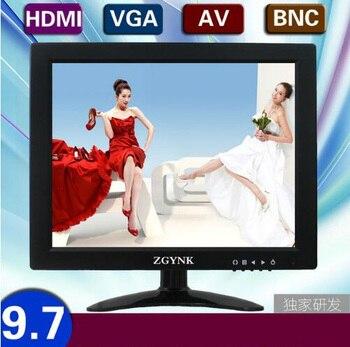 9.7 inch VGA HDMI BNC VGA interface high-definition input industrial security equipment monitor computer liquid crystal displays