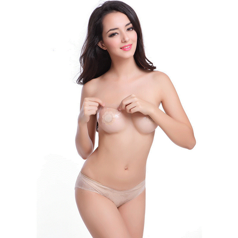 Godier Women 3Pcs/lot Sexy Bare Breast Lift Tape Adhesive Push Up Bra Tape Stickers Pasties Nipple Cover Lifter Bra Accessories