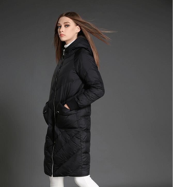 Vers Cocon D'hiver noir Chaud Long Grande rouge Style Le Manteau Poche Hiver Femmes Bas Beige WWfnF