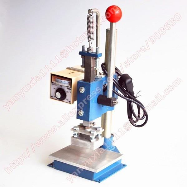 Manual Hot Foil Stamping Machine Leather Printer Creasing Machine Marking Press Machine Embossing Machine 10x13