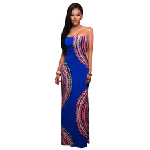 4a16ef9758 New Coming Steffie Mult-color Strings Back Maxi Dress Sexy Women Off The  Shoulder Strapless Long Dress Perfect for Ladies Party