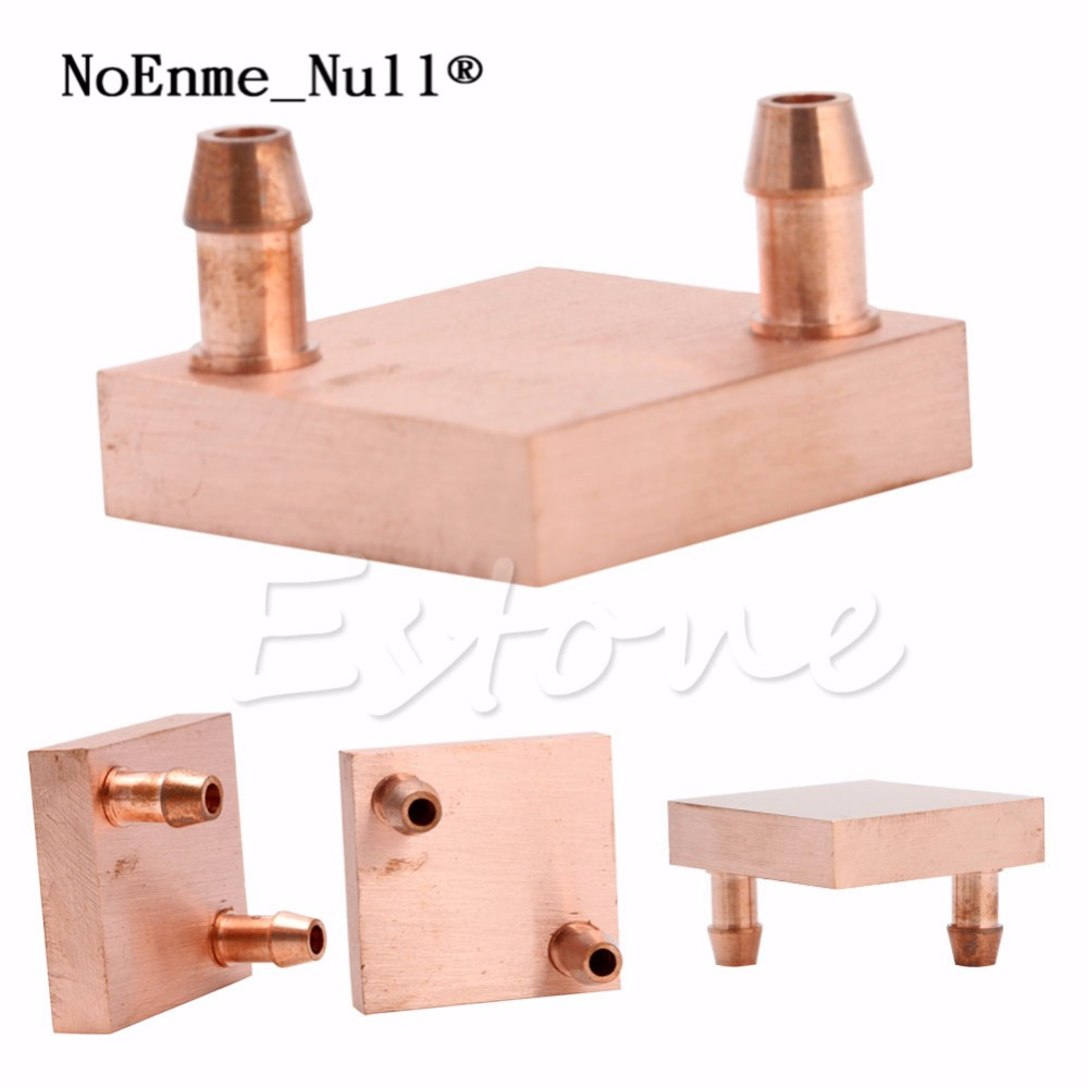 Copper Water Cooling Block For GPU CPU Radiator Liquid Heatsink Heat Sink Cooled 75 29 3 15 2mm pure copper radiator copper cooling fins copper fin can be diy longer heat sink radiactor fin coliing fin