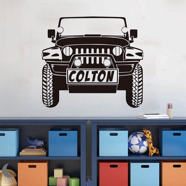 colton truck vinyl wall stickers traffic wall art removable