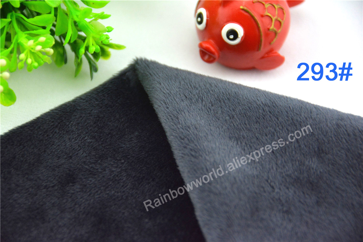 293# deep gray color Super soft short hair 2-3mm Fleece Fabric velvet microfiber velboa for DIY patchwork toy shoes sofa pillow