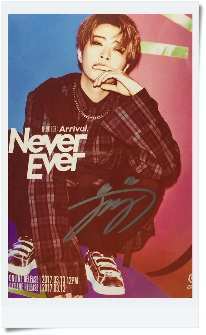 GOT7 GOT 7 YoungJae Young Jae  autographed signed photo FLIGHT LOG:ARRIVAL  6 inches new korean freeshipping 03.2017