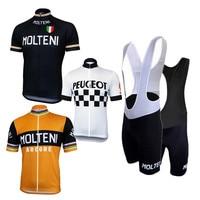 2018 Pro Team MOLTENI Cycling Jersey man Summer Ventilation Short sleeve Cycling Jersey men Clothing Retro Cycling Sports shirt