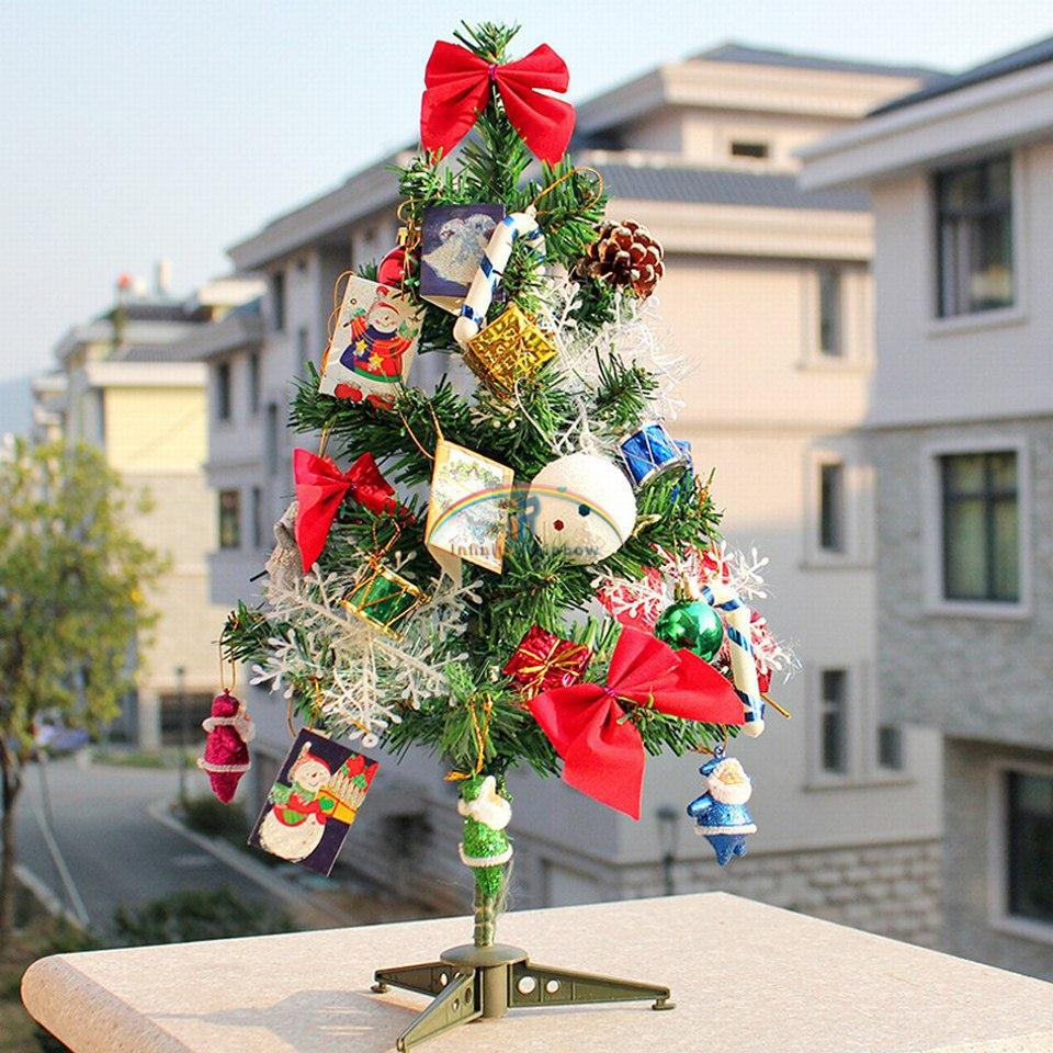 2016 home decor christmas tree gift hot sale needle pine ornament new year greeting color lights - Decorated Christmas Trees For Sale