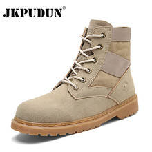 JKPUDUN Desert Tactical Military Combat Boots Men US Army Hunting Trekking  Camping Mountaineering Boots Bot Winter Casual Shoes 9d4db083a2f7