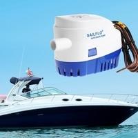 Free Shipping DC 12V/24V 1100GPH Automatic Bilge Pump Submersible Boat Water Pump Electric Pump For Boats Yart Bilge Pump