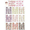 11 Patterns Big Sheet Flower Water Transfer Sticker French Edge Tip Watermark Decal Manicure Nail Sticker B056-066