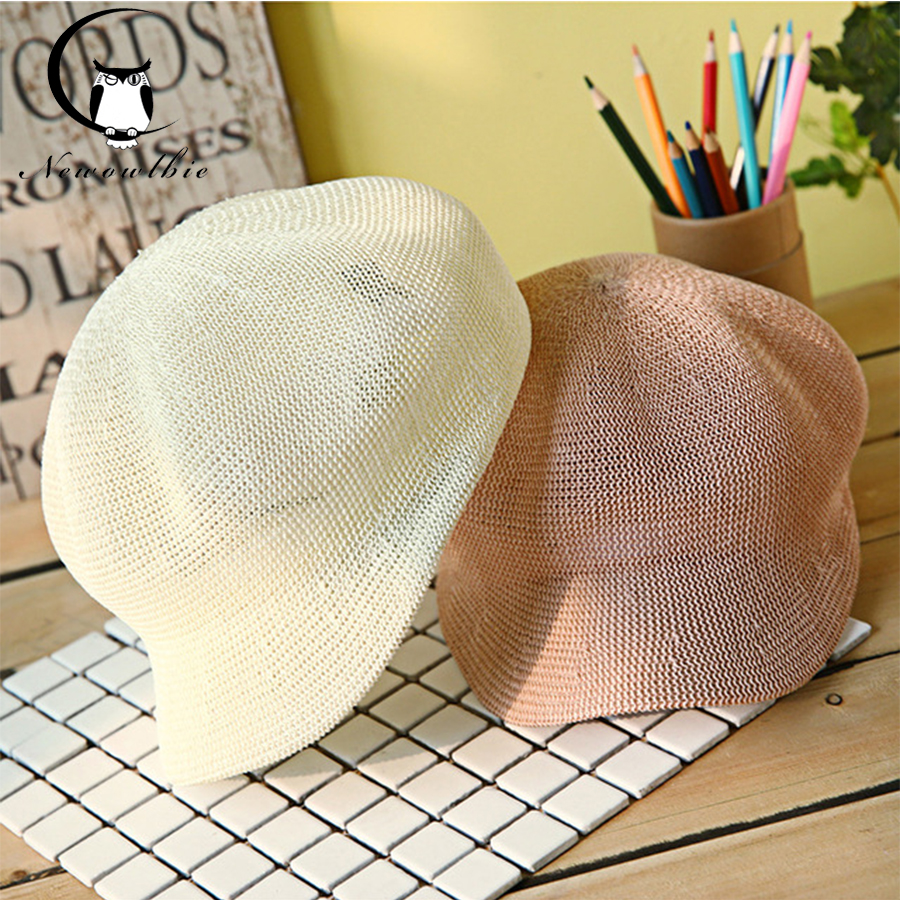 great quality reputable site latest design US $12.0 50% OFF|Ladies' hat spring and summer new grass yarn octagonal hat  simple hats cool breathable sunshade cap hats caps men-in Men's Sun Hats ...