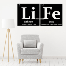 Blingird Li Fe Periodic Table Elements Life Wall Decal
