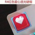 OEM Luz de Fondo Clave Teclado Mecánico ABS Tapón de Corazón Lindo F1 a F12 Teclas Claves para ESC tecla Numérica