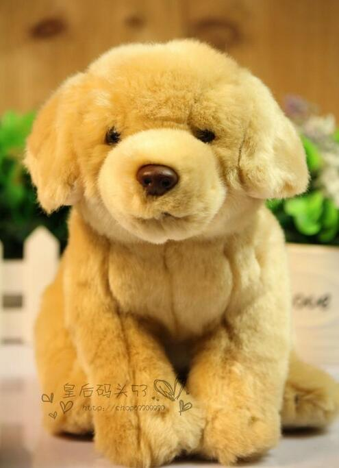 Simulation Animal  Plush Dog Kids Toys  Golden Retriever Gift  Stuffed Toy  Doll stuffed animal 55cm plush simulation squatting pug dog toy doll great gift free shipping w395