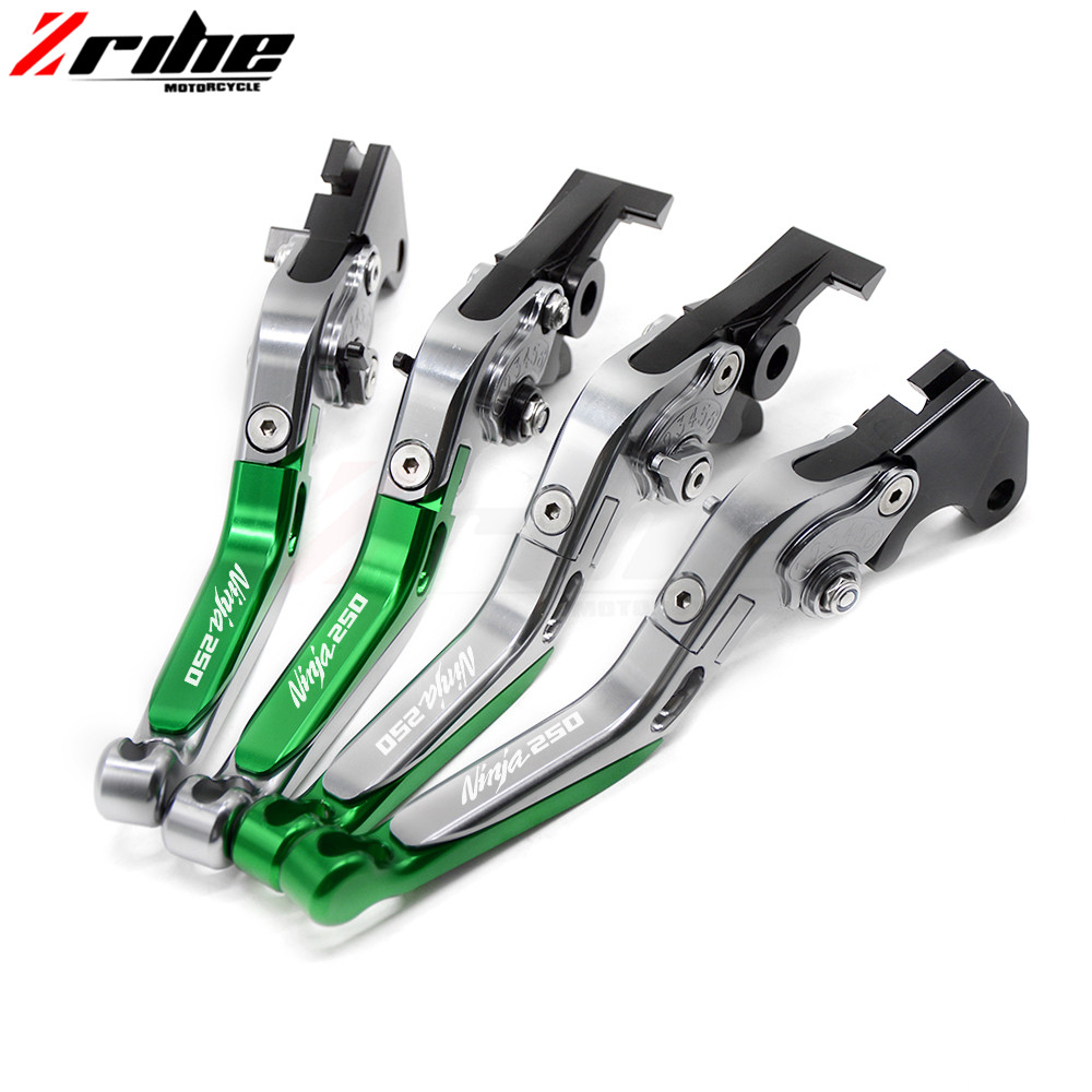 Motorcycle Accessories aluminum Adjustable Folding Extendable Brake Clutch Levers For Kawasaki NINJA 250 250R 250SL 2008-2012 for ducati multistrada 1200 dvt 2015 motorcycle accessories cnc billet aluminum folding extendable brake clutch levers