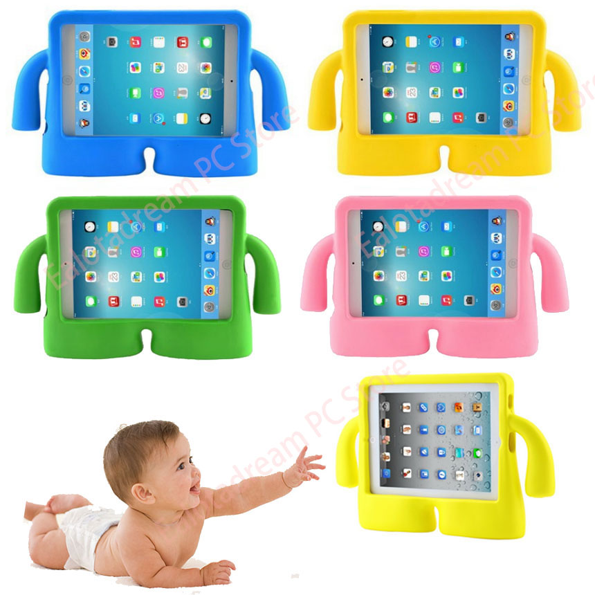 Soft Shockproof for iPad 2 iPad 3 iPad 4 Case Kids Silicon Protective Cover For iPad 2 3 4 Case Kids Children Tablet Cover shockproof kids children save protective