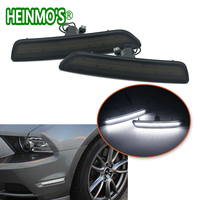 For Ford Mustang 2011 2012 2013 2014 Front Side Bumper Marker Lamps SMD Amber/White LED Lights