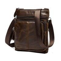 2016 High Quality Genuine Leather Messenger Bag Cowhide Fashion Retro Men Travel Casual Business Shoulder Messenger