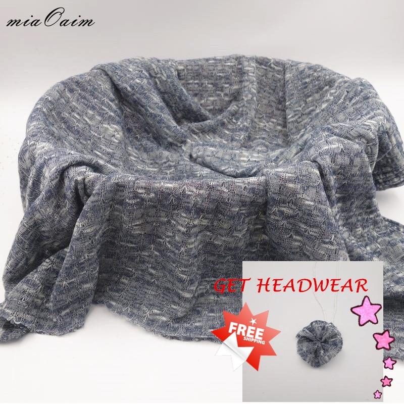 2Pcs/Lot Knit Fabric Newborn Baby Photography Prop Receiving Blanket Backdrop Background Basket Filler Stuffer Photo Accessories
