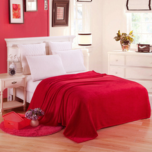 Thicker Spring/Autumn Winter blankets flannel Blankets Solid Super soft for Sofa/Bed/Plane Travel Portable Blanket 12 color
