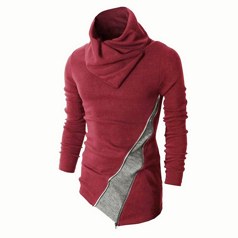 SHUJIN Knitted Sweater Pullover Long-Sleeve Turtleneck Men Winter Casual Patchwork Autumn
