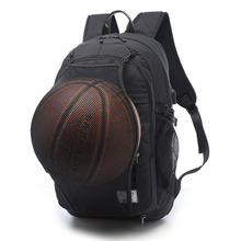 цена на Sports Bag Black Gray Outdoor Fitness Training Bag Basketball Backpack Man SportS Bag Gym Bag 15.6 Inch Laptop Port Male Gym Bag