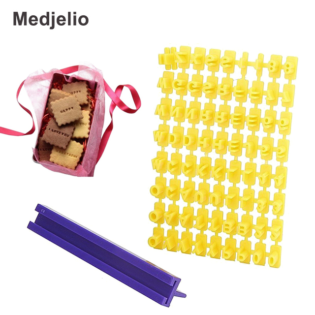 Medjelio English Letter Imprint Cookies Biscuits Chocolate Cutters ...